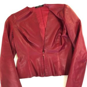 Gucci Red Leather Jacket